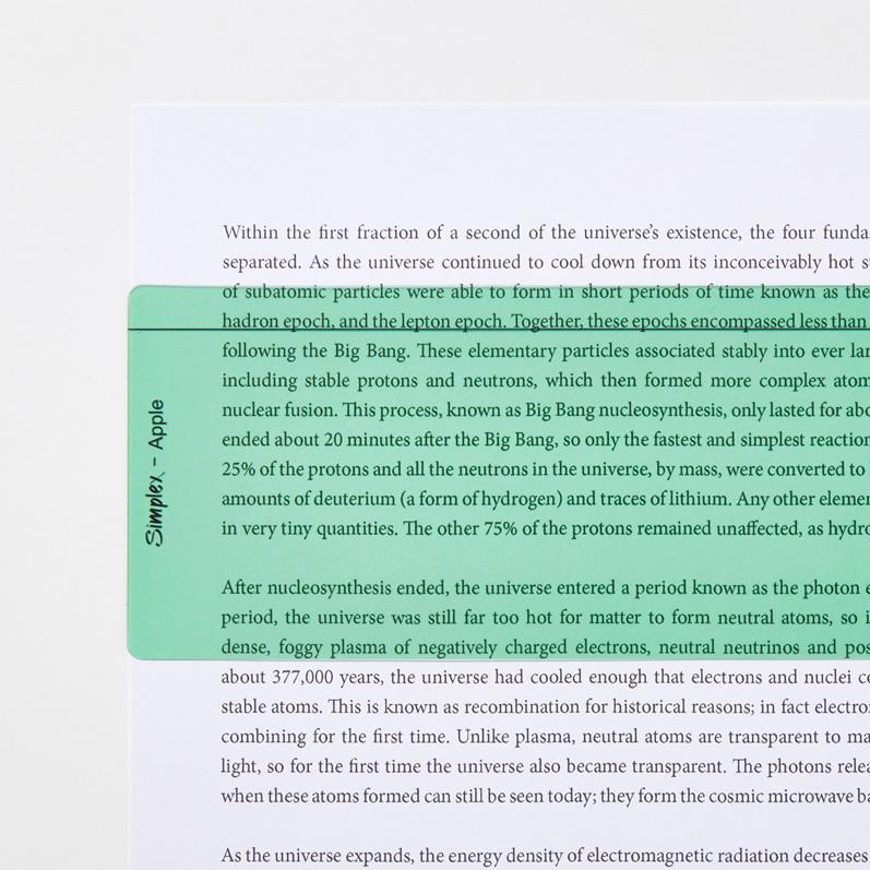 Apple Reading Aid Ruler