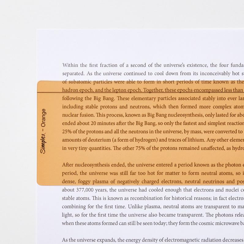 Orange Reading Aid Ruler