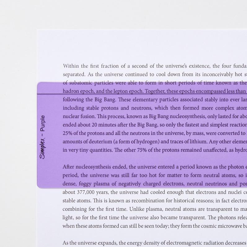 Purple Reading Aid Ruler