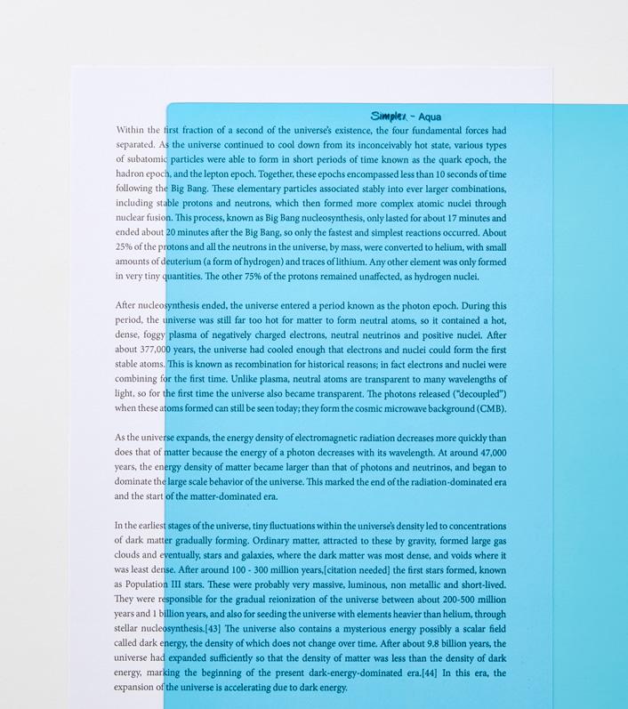 Aqua A4 reading aid