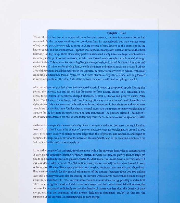Blue A4 reading aid