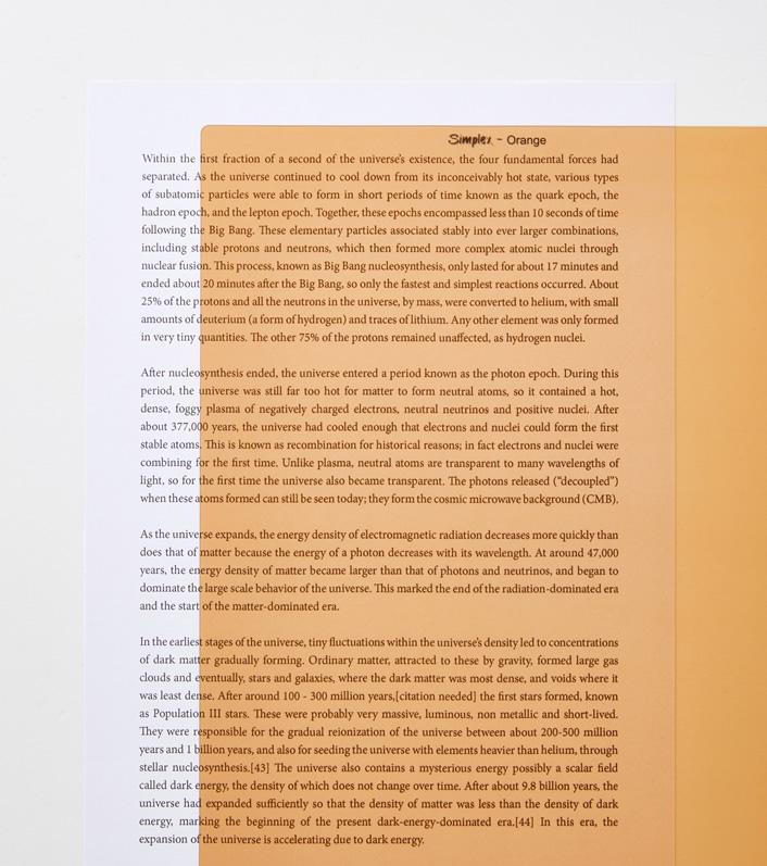 Orange A4 reading aid