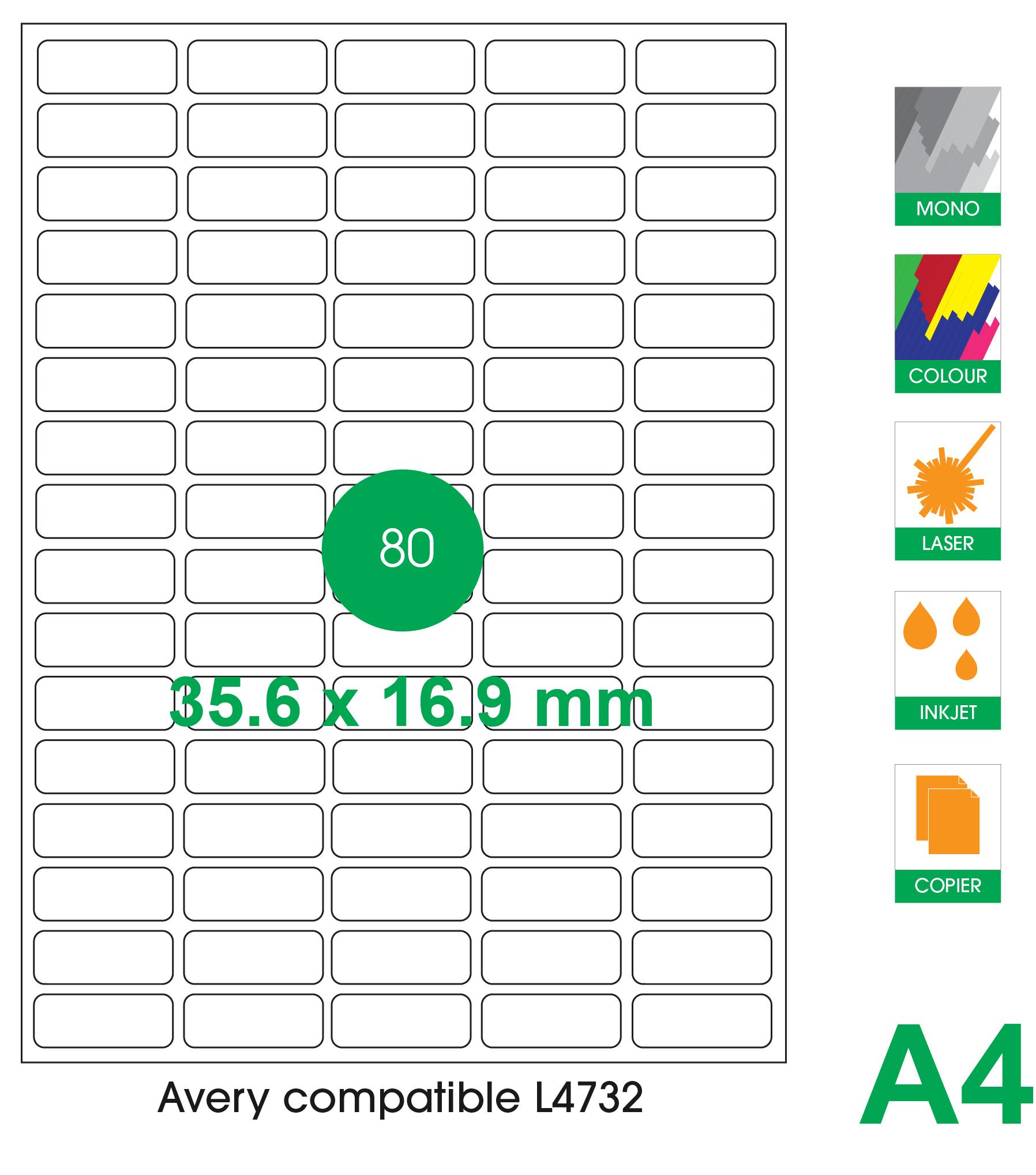 80 labels per A4 sheet