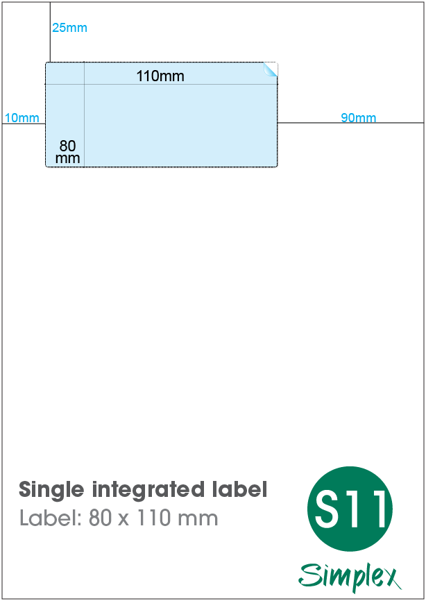 S11 Single Integrated Label