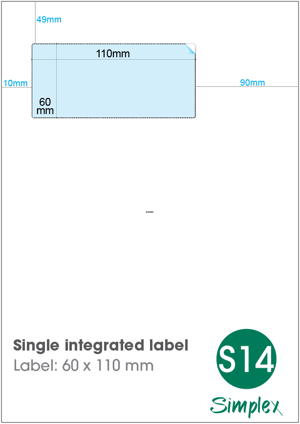 S14 Single Integrated Label